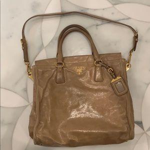 Prada Vitello Double handle bag.